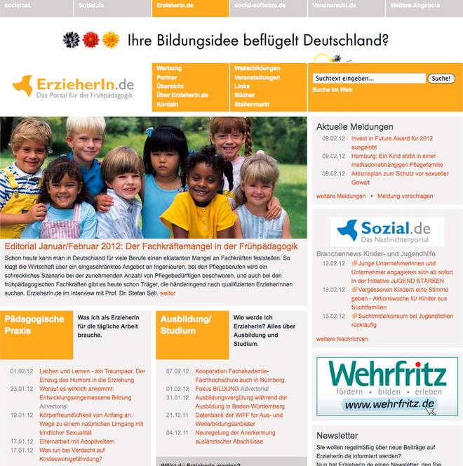 Website ErzieherIn.de