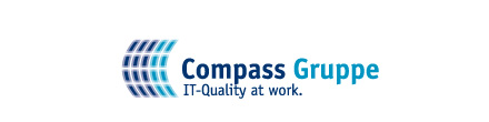 Logo: Compass Gruppe, IT-Quality at work.
