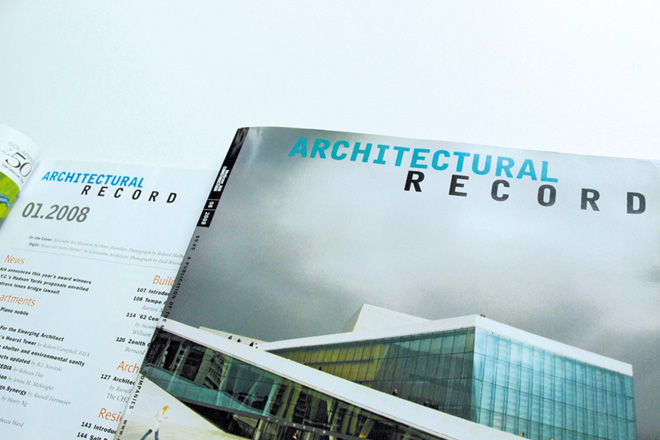 Architectural Record, Logotype für Carbone Smolan Ass., New York